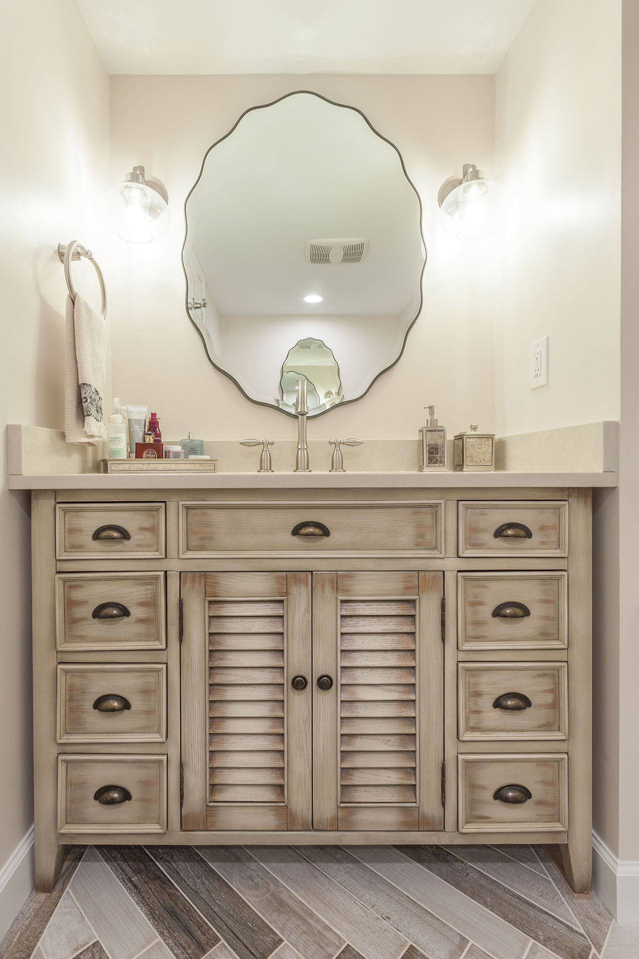 Transitional guest bath remodeling in old town alexandria - Bathroom remodeling alexandria va ...